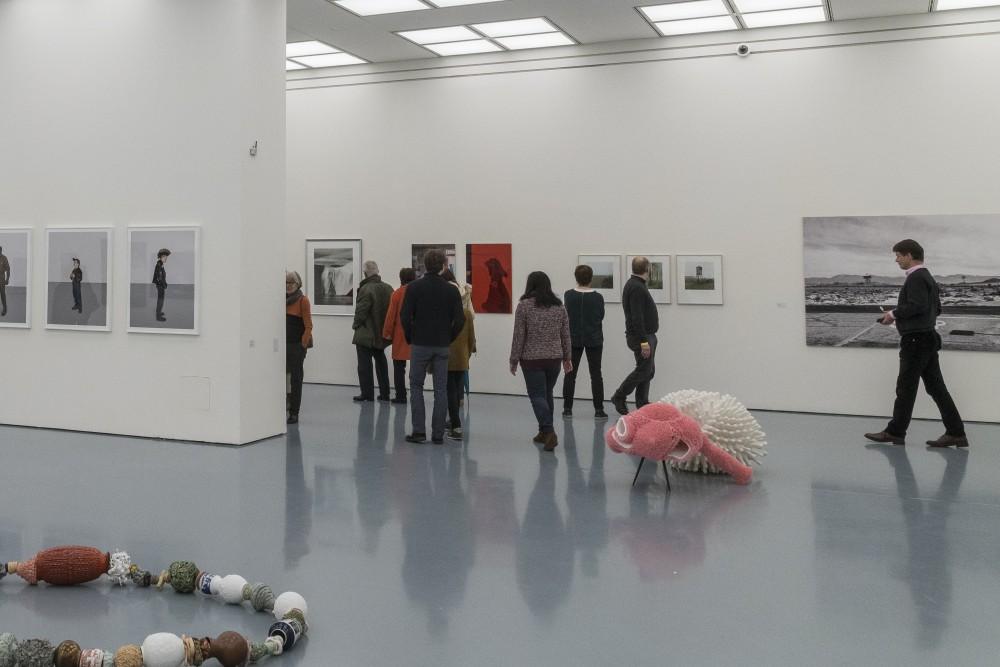 Ausstellungsimpression mit meinen Bildern im Kunstmuseum Kunstpalast